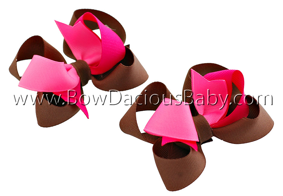 Sweet Pea Funky Front Hair Bows Plain Center
