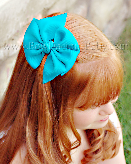 2 1/4 Traditional Hair Bows Knot Center, Color Choices