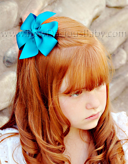 Traditional Boutique Hair Bow Plain Center, Color Choices