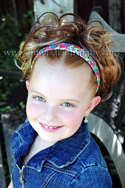 Funky Flowers Wrapped U-Band Headband Several Color Choices